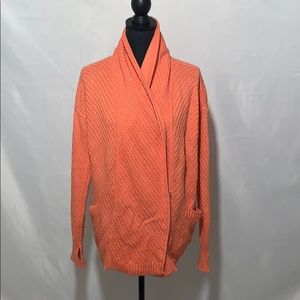 Lululemon orange post workout cardi size10